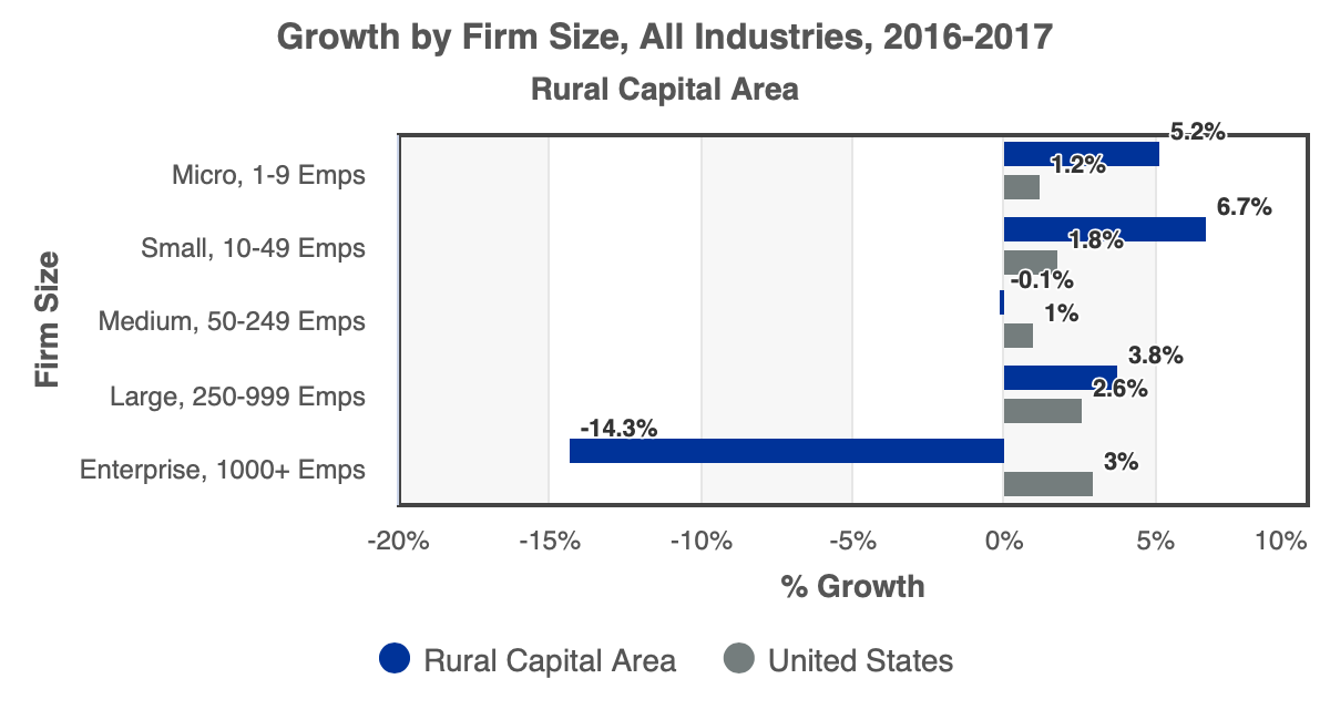 Growth by Firm Size